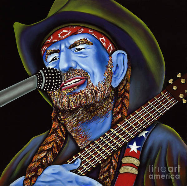 Portrait Art Print featuring the painting Willie by Nannette Harris