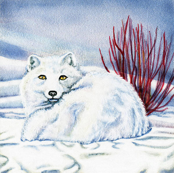 Winter Art Print featuring the painting Winter Fox by Antony Galbraith