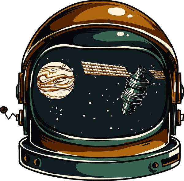 Spaceman Art Print featuring the digital art Astronaut by Passion Loft