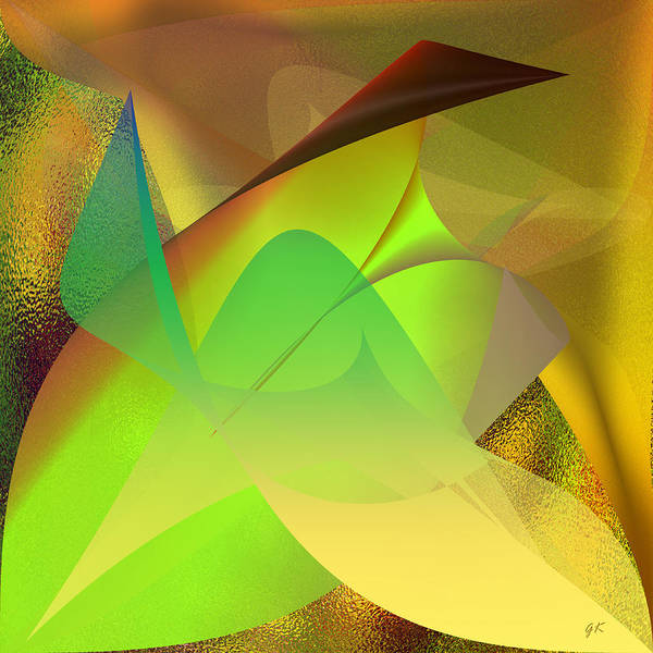 Abstract Art Print featuring the digital art Dreams - Abstract by Gerlinde Keating - Galleria GK Keating Associates Inc
