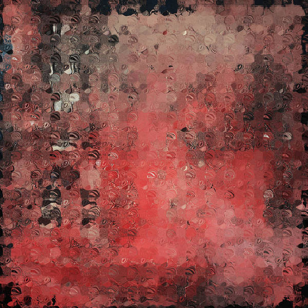 Abstract Paintings Art Print featuring the digital art Abstract Red Digital Print by Andrada Anghel