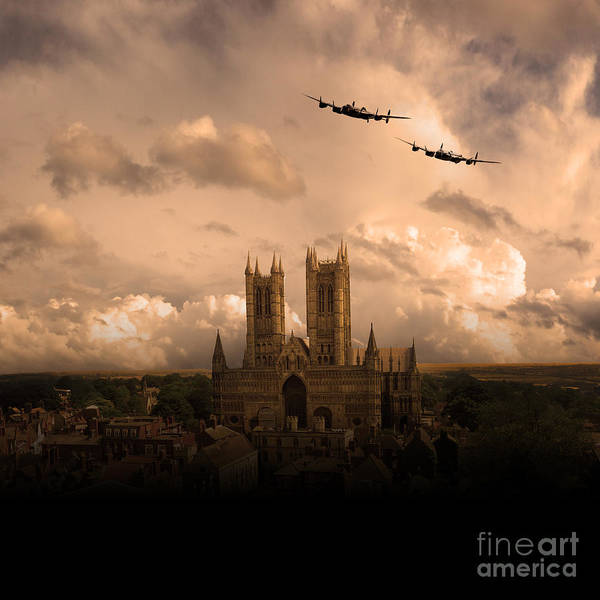 Avro Art Print featuring the digital art Cathedral Pass by Airpower Art