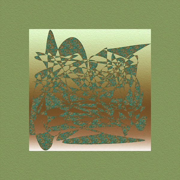 Delicate Green Stroke Art Print featuring the digital art Delicate Green Stroke by Mihaela Stancu