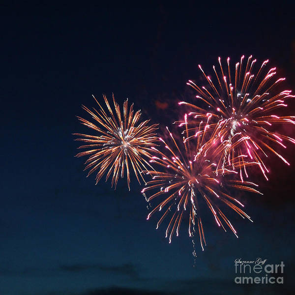 Fireworks Art Print featuring the photograph Fireworks Series Vi by Suzanne Gaff