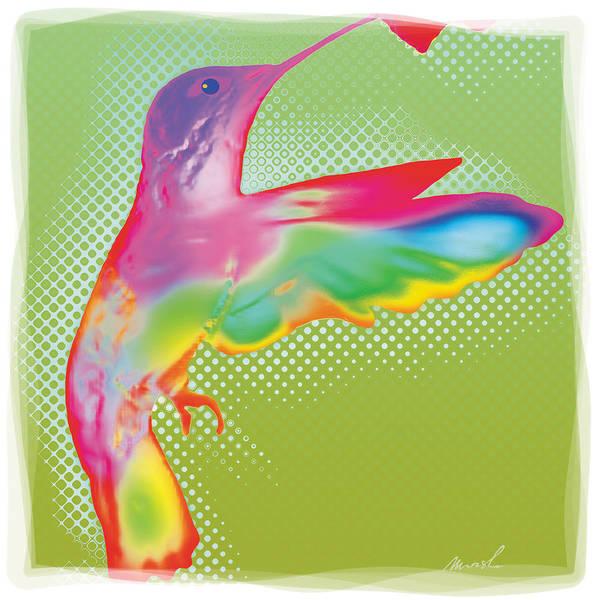 humming Bird Art Print featuring the painting Humming Bird by The Art of Marsha Charlebois