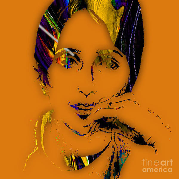 Joan Baez Art Print featuring the mixed media Joan Baez Collection by Marvin Blaine