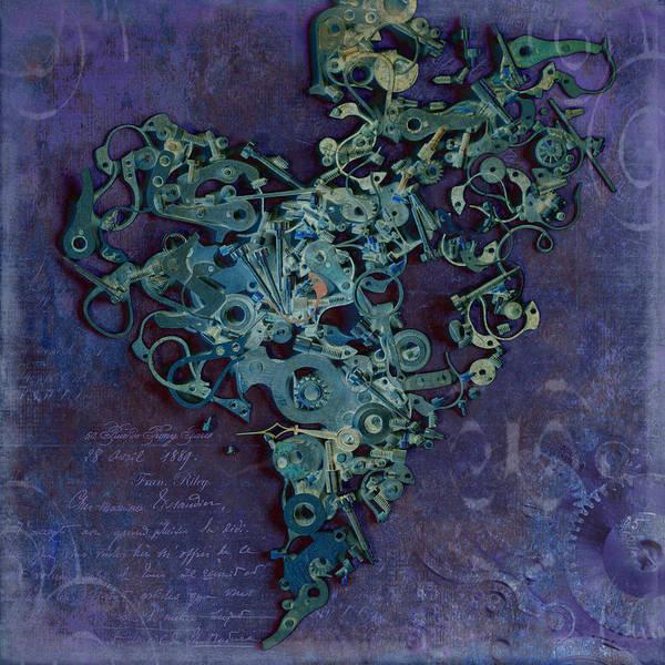 Heart Art Print featuring the photograph Mechanical - Heart by Fran Riley