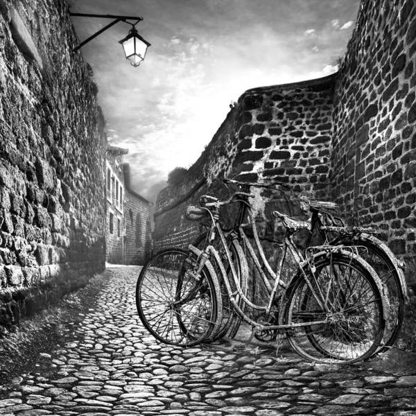 Appalachia Art Print featuring the photograph Old Bicycles On A Sunday Morning by Debra and Dave Vanderlaan