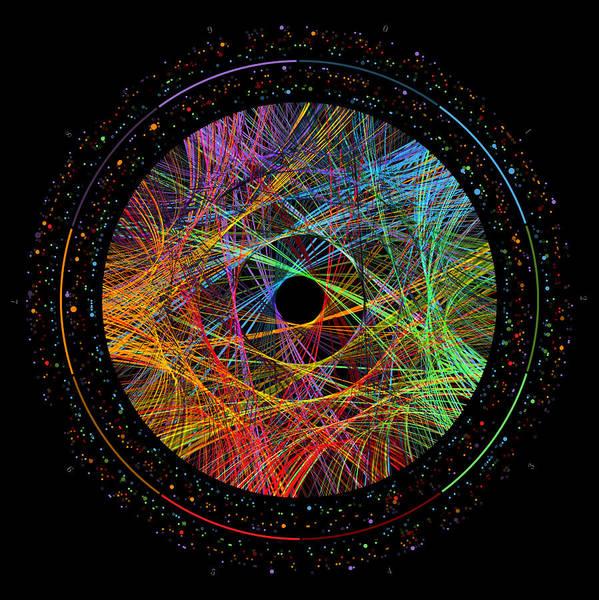 Phi Art Print featuring the digital art Phi Transition Paths by Martin Krzywinski