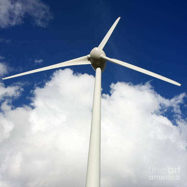 Alternative Art Print featuring the photograph Wind Turbine by Bernard Jaubert