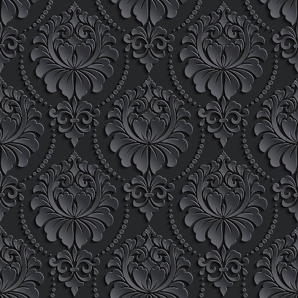 Vector Damask Seamless Pattern Background Elegant Luxury Texture For Wallpapers Backgrounds And Page Fill 3d Elements With Shadows And Highlights