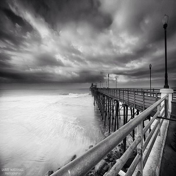 Art Print featuring the photograph Long Exposure Sunset At The Oceanside by Larry Marshall