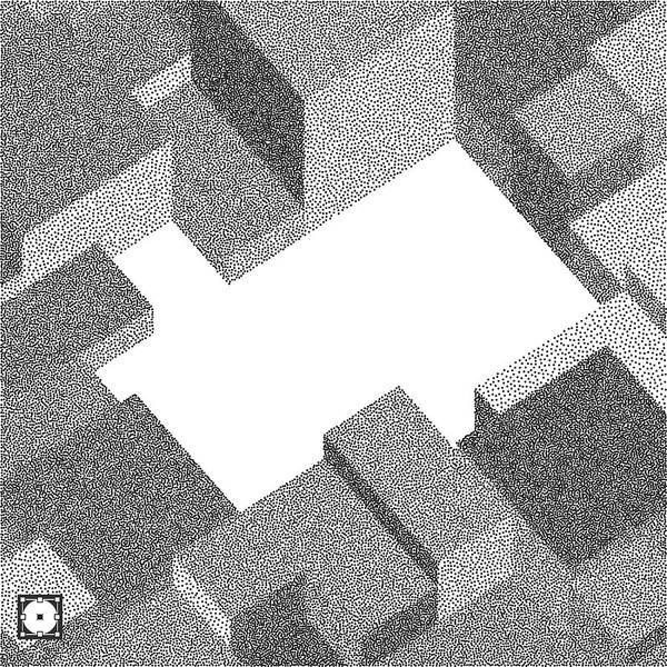 3d Vector Background  Black And White Grainy Design  Pointillism Pattern   Stippling Effect  Vector Illustration  Art Print