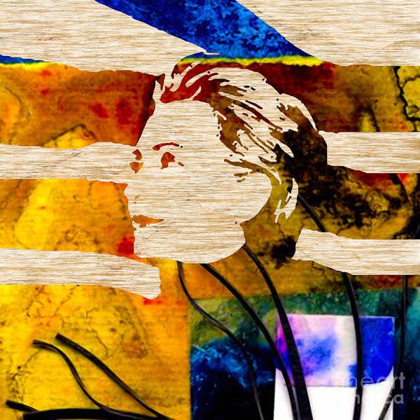 Hillary Clinton Paintings Mixed Media Art Print featuring the mixed media Hillary Clinton by Marvin Blaine