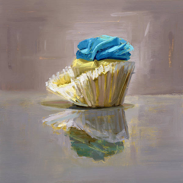 Cupcake Art Print featuring the painting Rcnpaintings.com by Chris N Rohrbach