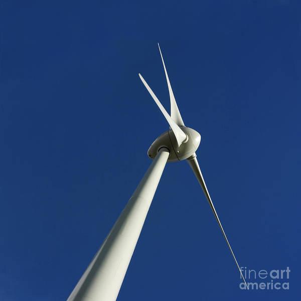 Renewable Energy Print featuring the photograph Wind Turbine by Bernard Jaubert