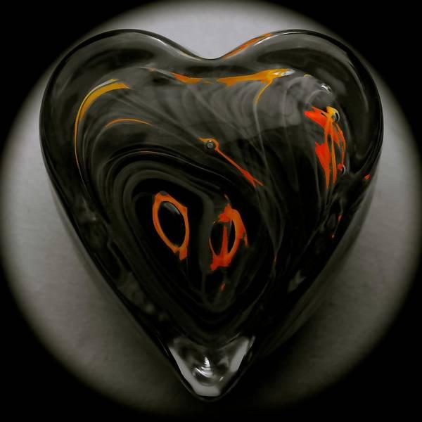 Starved Rock Hot Glass Art Print featuring the photograph A Bit Of Heart Burn by Tim G Ross