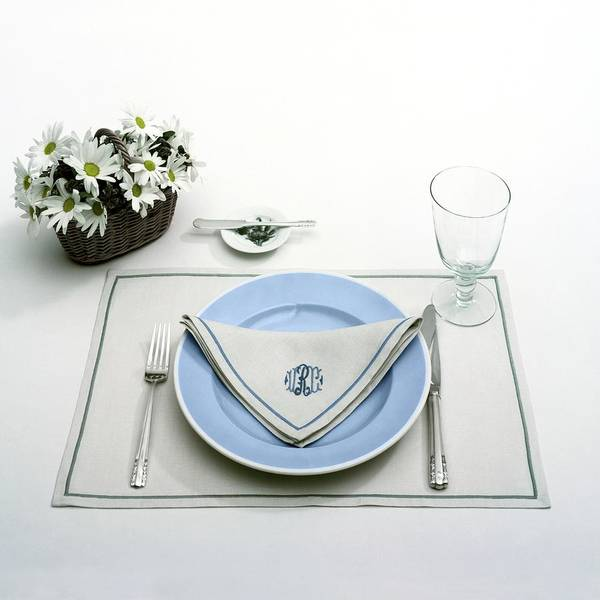 Utensils Art Print featuring the photograph A Blue Table Setting by Haanel Cassidy