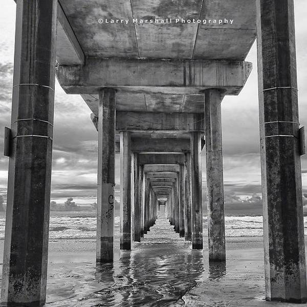 Art Print featuring the photograph A Stormy Day In San Diego At The by Larry Marshall