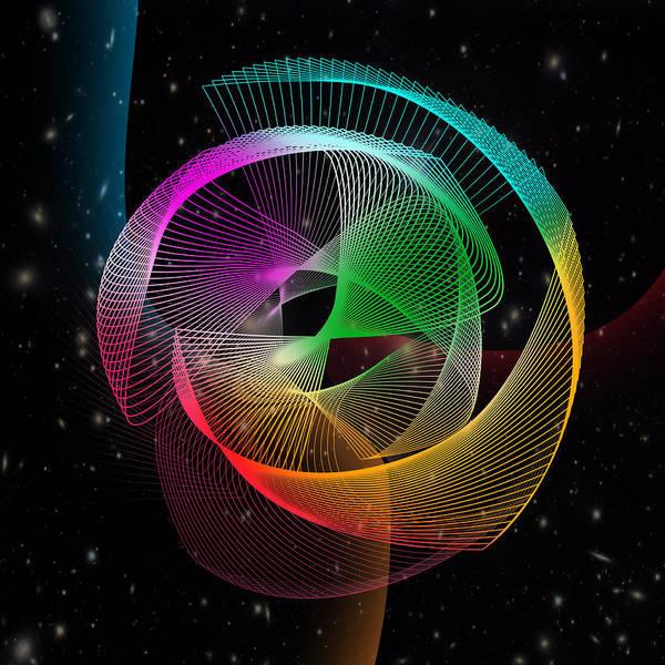 Geometric Art Print featuring the digital art Abstract by Mark Ashkenazi