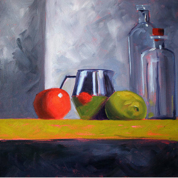 Kitchen Art Print featuring the painting Against Giants by Nancy Merkle