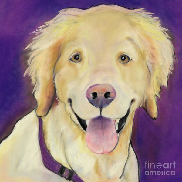 Purple Painting Art Print featuring the painting Alex by Pat Saunders-White