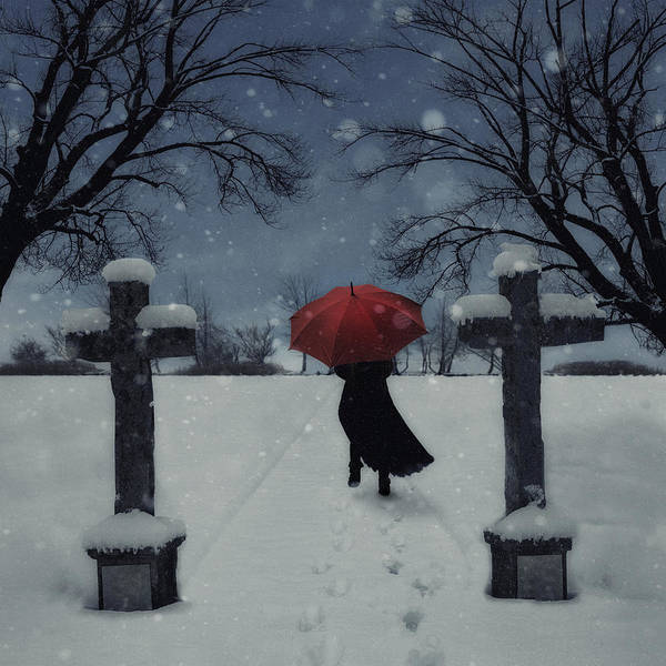 Woman Print featuring the photograph Alone In The Snow by Joana Kruse