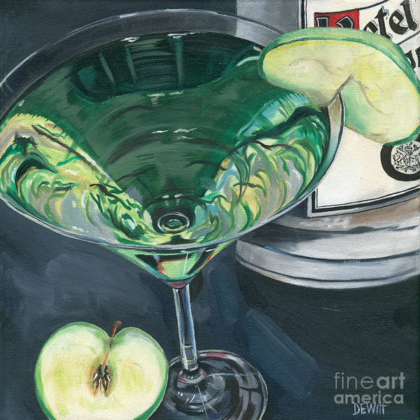 Apple Art Print featuring the painting Apple Martini by Debbie DeWitt