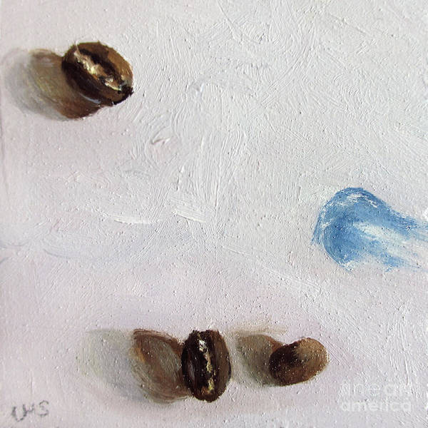 Coffee Art Print featuring the painting Artist's Coffee Break by Ulrike Miesen-Schuermann