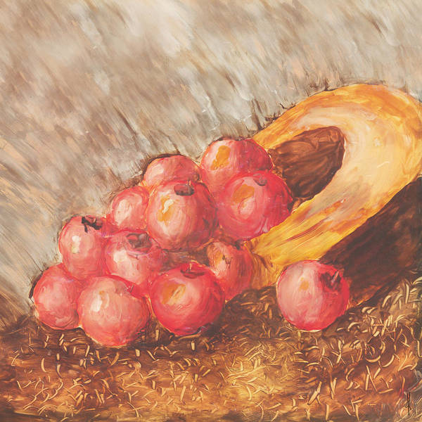 Apples Art Print featuring the painting Autumn Apples by Jacob Cane