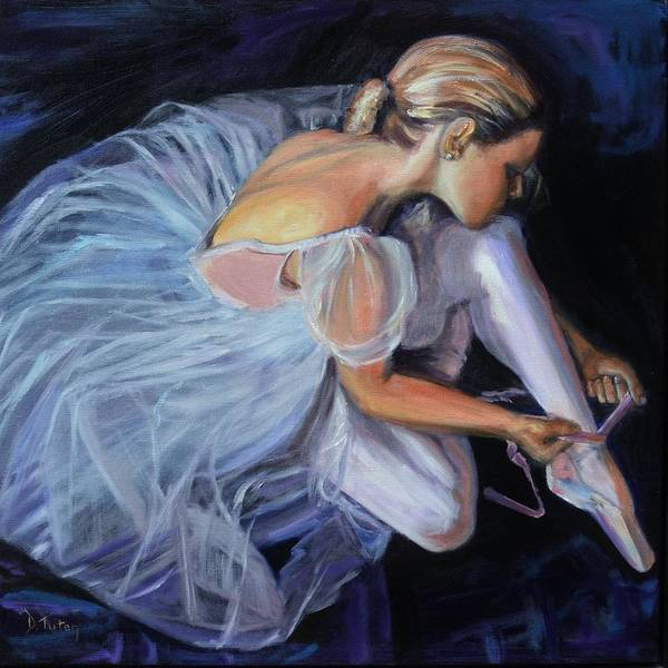 Female Art Print featuring the painting Ballerina by Donna Tuten