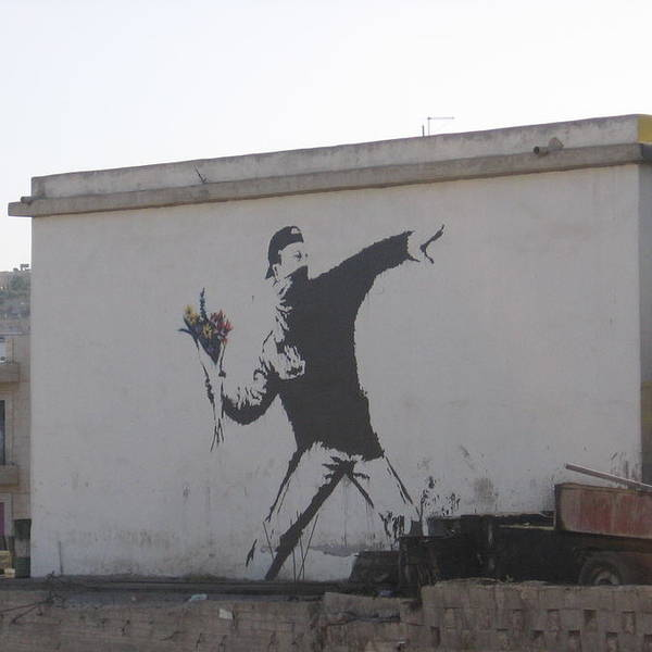 Image result for banksy flower thrower