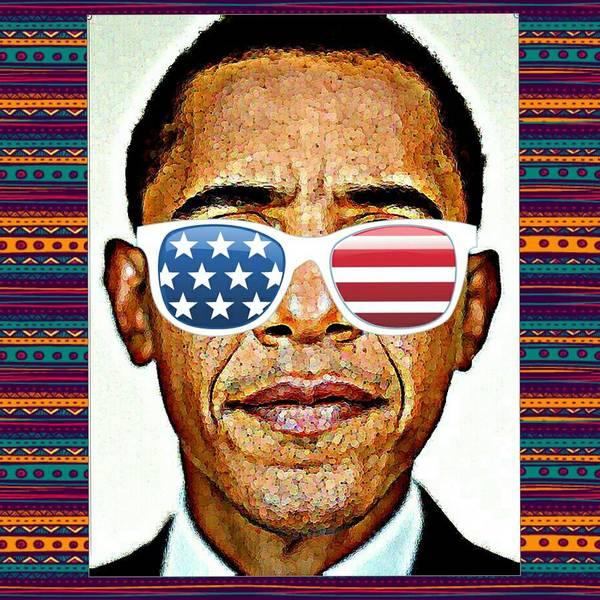 Barack Obama Art Print featuring the mixed media Barack Obama by Nuno Marques