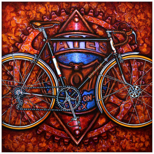Bicycle Art Print featuring the painting Bates Bicycle by Mark Jones