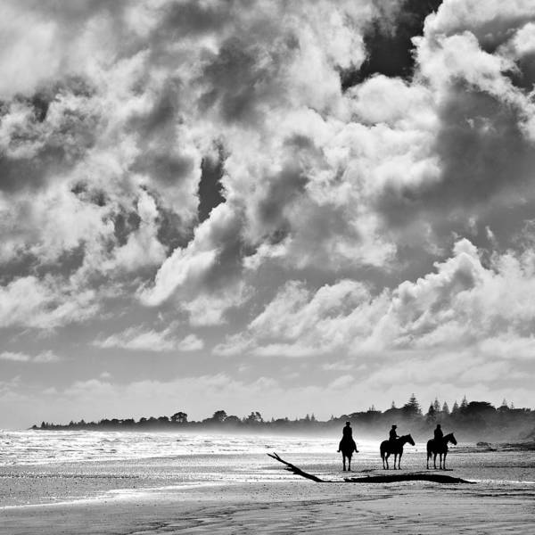 Ride Art Print featuring the photograph Beach Riders by Dave Bowman