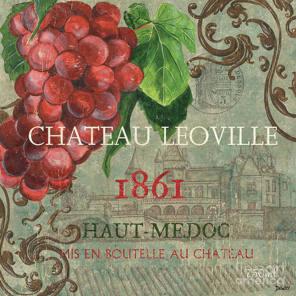 Wine Art Print featuring the painting Beaujolais Nouveau 1 by Debbie DeWitt