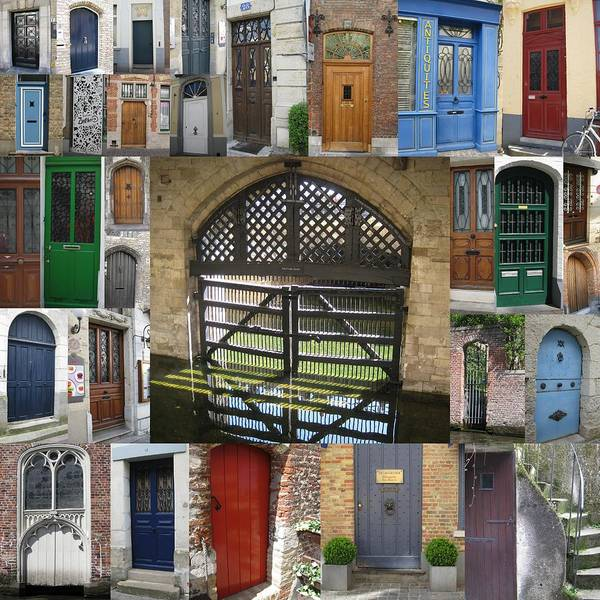 Door Art Print featuring the photograph Beautiful Doors In London France And Belgium by Cathy Jacobs