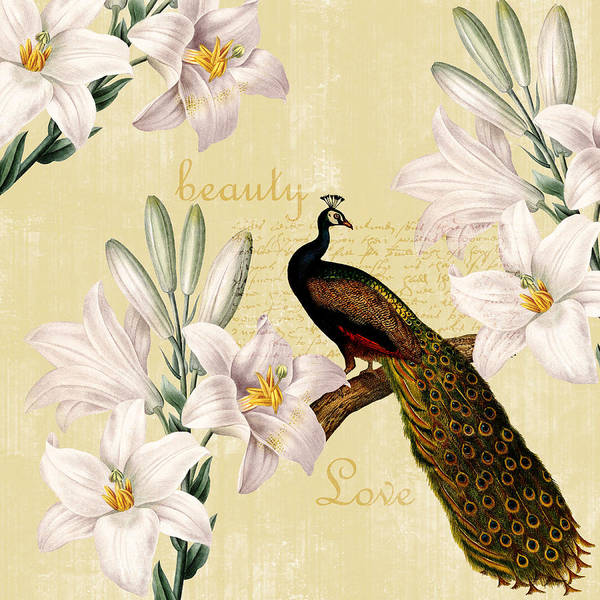 Beautiful Art Print featuring the photograph Beautiful Lilies Peacock by P S
