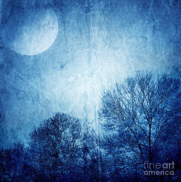 Beautiful Moonlight Photos Print featuring the photograph Beautiful Moonlight Photos by Boon Mee