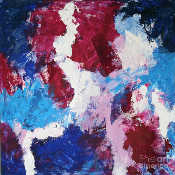 Abstract Print featuring the painting Beginning by Mordecai Colodner