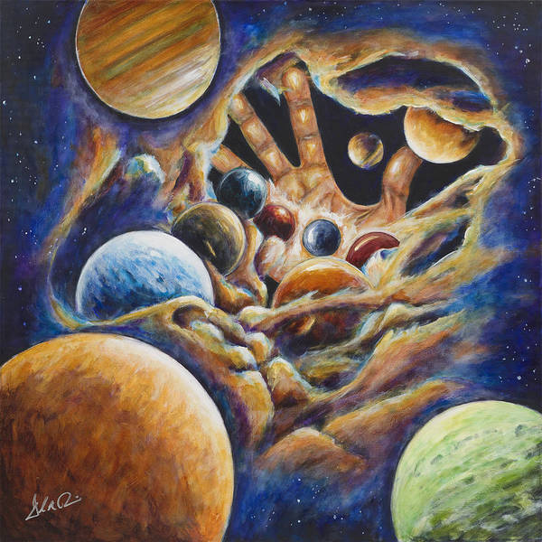 Spiritual Painting Art Print featuring the painting Beginnings by Daryl Price