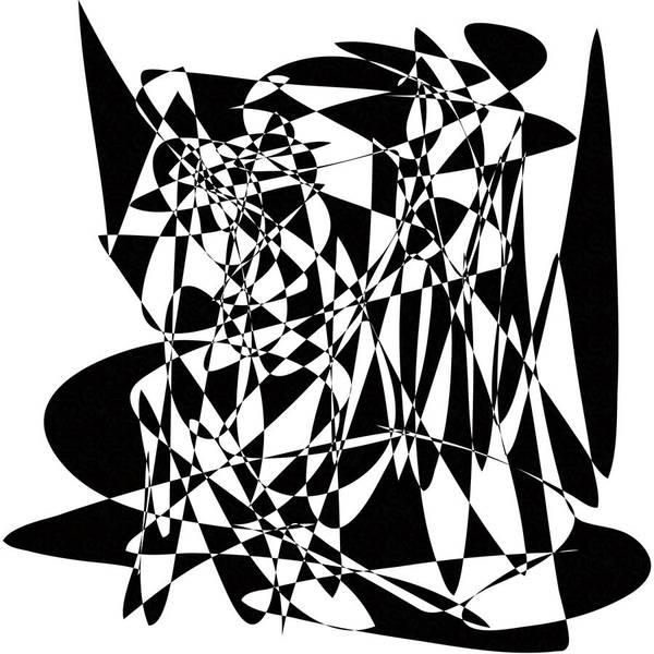 Black Stroke Art Print featuring the digital art Black Stroke by Mihaela Stancu