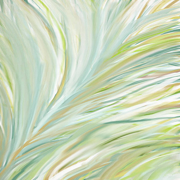 Light Green Art Print featuring the painting Blooming Grass by Lourry Legarde