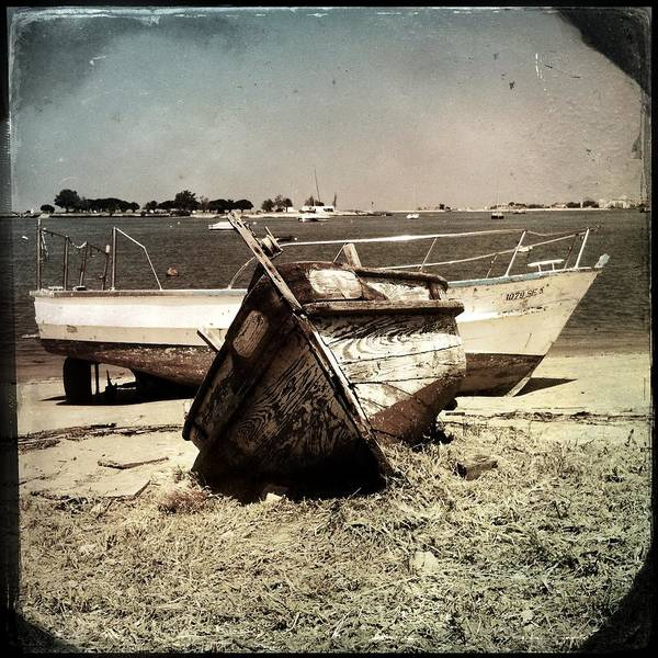 Boats On The Bay Art Print featuring the photograph Boats On The Bay by Marco Oliveira