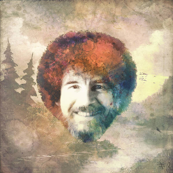 Bob Ross Art Print By Filippo B