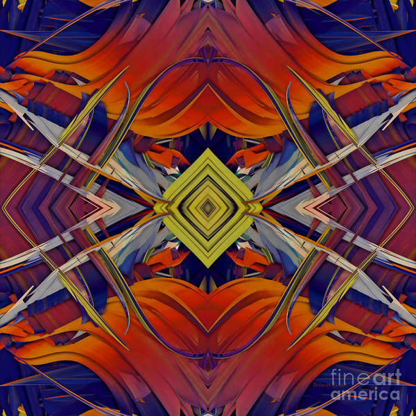 Abstract Print featuring the digital art Boldness Of Color by Deborah Benoit