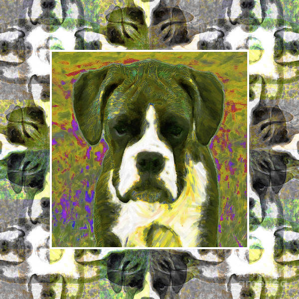 Animal Print featuring the photograph Boxer Dog 20130126 by Wingsdomain Art and Photography
