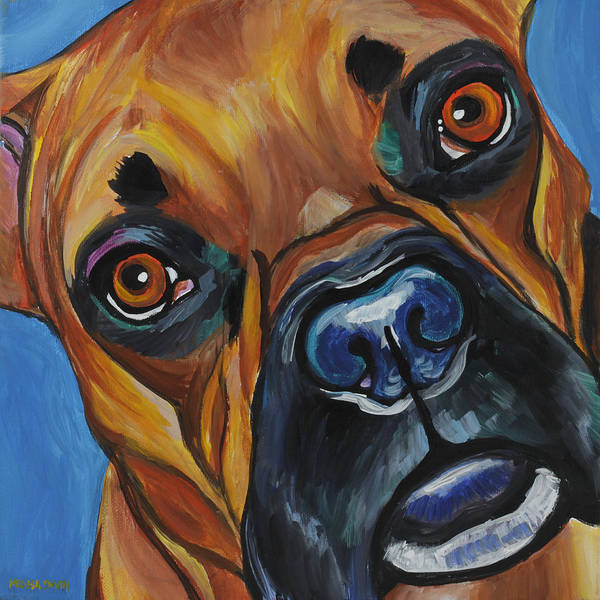 Boxer Print featuring the painting Boxer by Melissa Smith