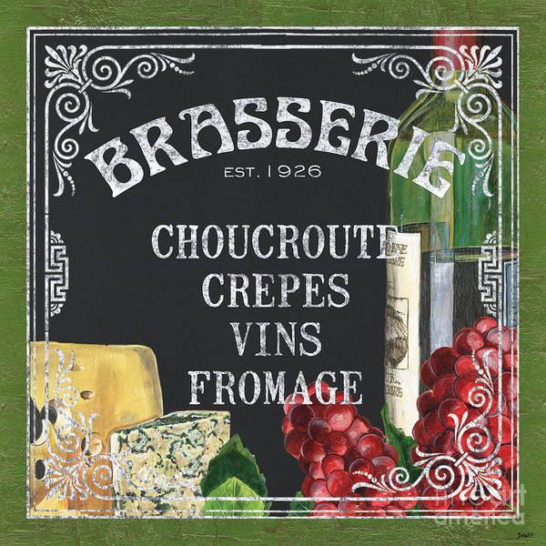 Bistro Print featuring the painting Brasserie Paris by Debbie DeWitt