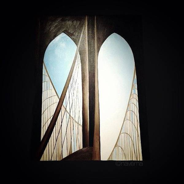 Art Print featuring the photograph 'brooklyn Bridge' By Georgia by Natasha Marco
